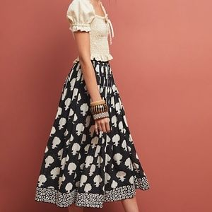 Anthropologie Emblematic Midi Skirt By Payal Jain